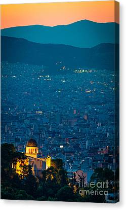 National Observatory Of Athens Canvas Print by Inge Johnsson