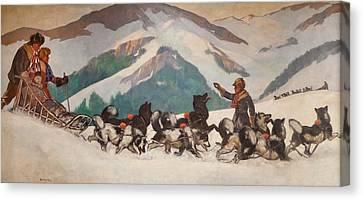 National Park Service - North Country Canvas Print by Gifford Beal