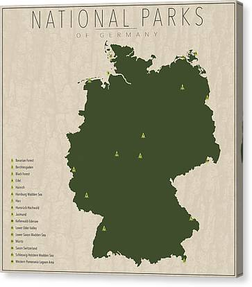 National Parks Of Germany Canvas Print by Finlay McNevin