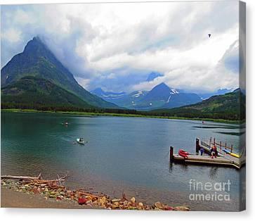 Canvas Print featuring the photograph National Parks. Serenity Of Mcdonald by Ausra Huntington nee Paulauskaite