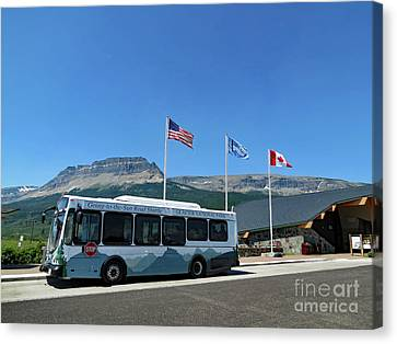 Canvas Print featuring the photograph National Parks. St. Mary Visitor Center At Glacier by Ausra Huntington nee Paulauskaite