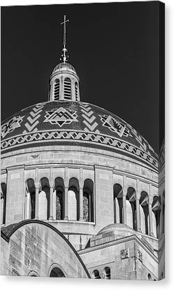 National Shrine Dome Bw Canvas Print by Susan Candelario