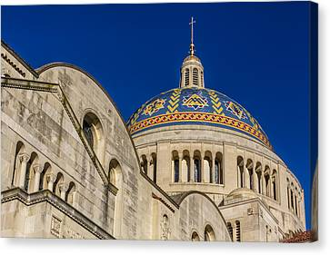 National Shrine Dome I Canvas Print by Susan Candelario