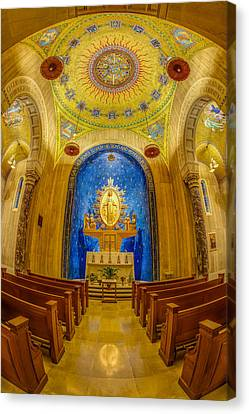 National Shrine Of The Immaculate Conception Chapel Canvas Print by Susan Candelario