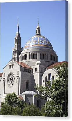 National Shrine Of The Immaculate Conception Canvas Print by William Kuta