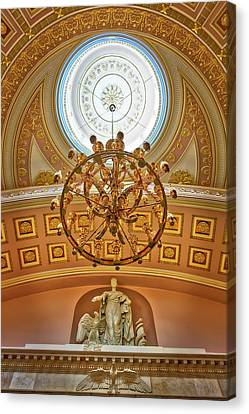 Statue Of Liberty Canvas Print - National Statuary Hall Washington Dc by Susan Candelario