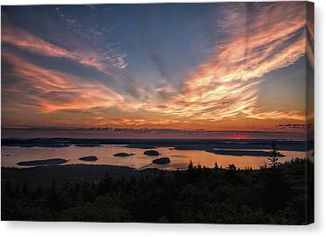 Canvas Print featuring the photograph National Sunrise by John M Bailey