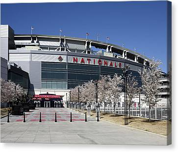 Nationals Park In Washington D.c. Canvas Print by Brendan Reals
