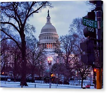 Nations Capitol Canvas Print by Jimmy Ostgard