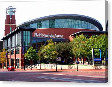 Nationwide Arena Canvas Print by Laurel Talabere