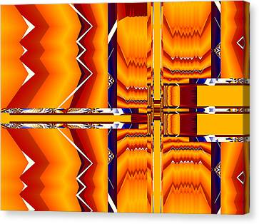 Canvas Print featuring the digital art Native Abstract by Fran Riley