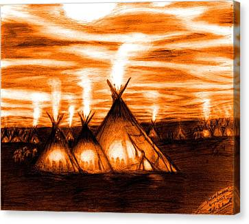Native America  Canvas Print by Bob Schmidt