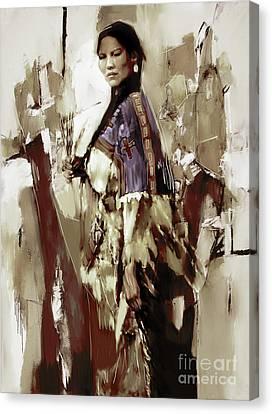 Native America Woman 33 Canvas Print by Gull G