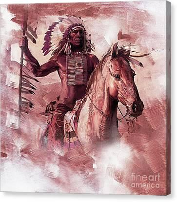 Native American 00932 Canvas Print by Gull G