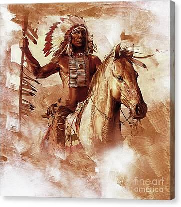 Native American 093201 Canvas Print by Gull G