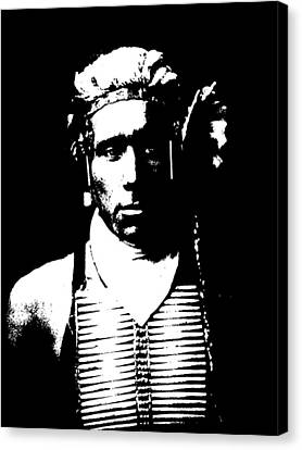 Native American 12 Curtis Canvas Print by David Bridburg