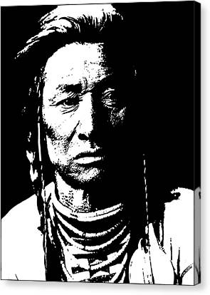 Native American 15 Curtis Canvas Print by David Bridburg