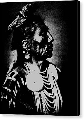 Native American 2 Curtis Canvas Print by David Bridburg