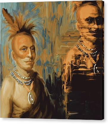 Native American 273 2 Canvas Print by Mawra Tahreem