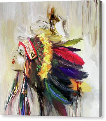 Native American 274 1 Canvas Print by Mawra Tahreem