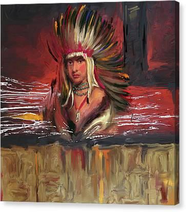 Native American 277 1  Canvas Print by Mawra Tahreem