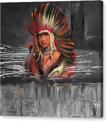 Native American 277 3 Canvas Print by Mawra Tahreem