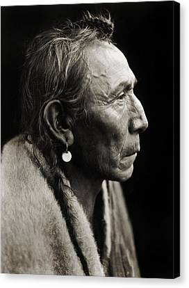 Native American Aki-tanni Two Guns Canvas Print by Jennifer Rondinelli Reilly - Fine Art Photography