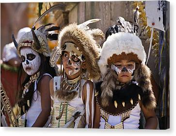 Native American Boys Canvas Print