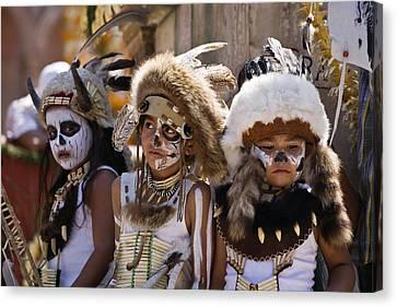 Native American Boys Canvas Print