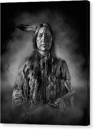 Native American Chief-scabby Bull Canvas Print by Bekim Art