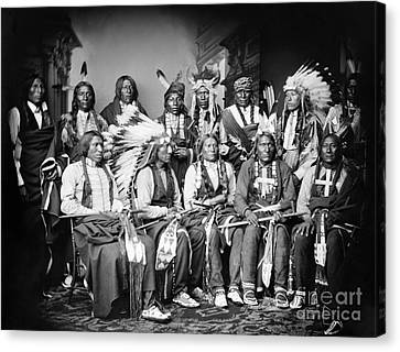 Native American Delegation, 1877 Canvas Print by Granger