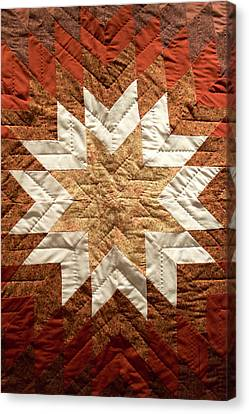 Homemade Quilts Canvas Print - Native American Great Plains Indian Artwork Vertical 01 by Thomas Woolworth
