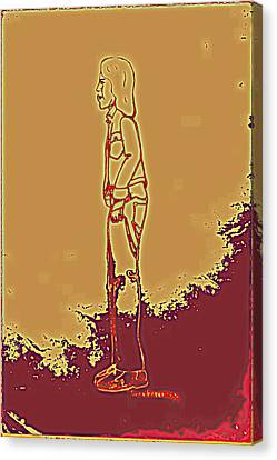 Native American Indian Boy With Bandaged Arm Canvas Print by Sheri Buchheit