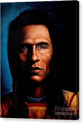 Native American Spirit Portrait Canvas Print - Native American Indian Soaring Eagle by Georgia's Art Brush