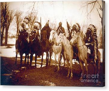 Native American Indian Tribal Leaders Canvas Print by Science Source