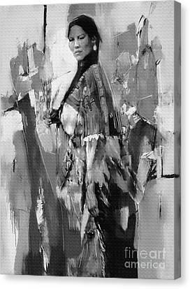Native American Lady  Canvas Print by Gull G