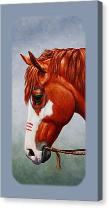 Native American War Horse Phone Case Canvas Print by Crista Forest
