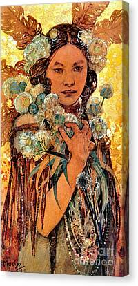 Native American Woman 1905 Canvas Print by Padre Art