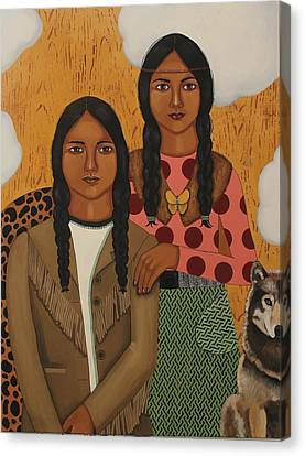Native American's Were Never Immigrants Canvas Print by Stephanie Cohen
