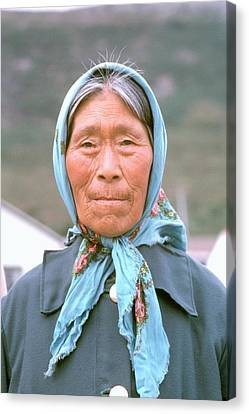 Canvas Print featuring the photograph Native Face . by Douglas Pike
