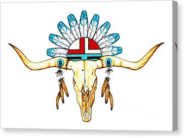 Southwest Canvas Print - Native Guide by Sheryl Unwin