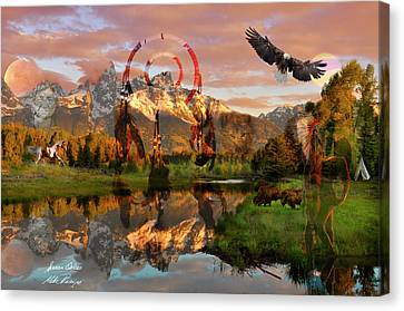 Finger Lakes Canvas Print - Native by Mike Peconge