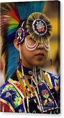 Fancy-dancer Canvas Print - Native Pride 19 by Bob Christopher