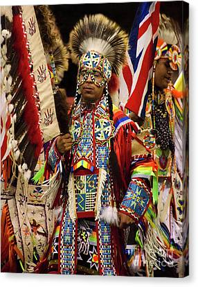 Fancy-dancer Canvas Print - Native Pride 24 by Bob Christopher