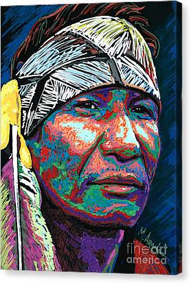 Native Pride Canvas Print by Maria Arango