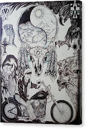 Native Ride Canvas Print