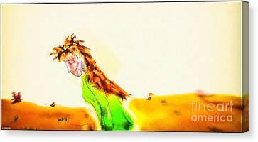 Native Sister Canvas Print by Robert Radmore
