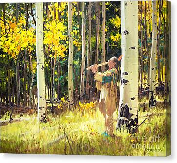 Autumn Leaf Canvas Print - Native Sound In The Forest by Gary Kim