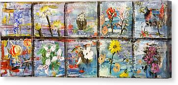 native Texas wildflowers A Canvas Print by Michael Dillon