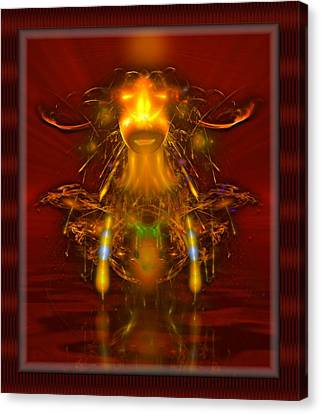 Native Witchdoctor Canvas Print by Mario Carini